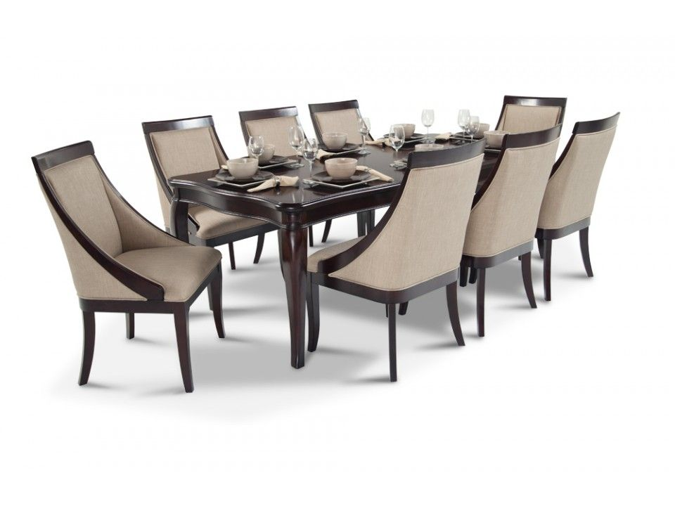 Gatsby 9 Piece Dining Set With Swoop Chairs Dining Room Floor