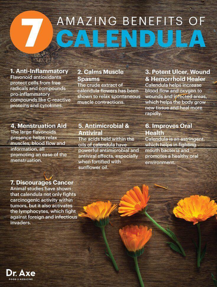 Calendula benefits Dr. Axe nutritionholistic Coconut