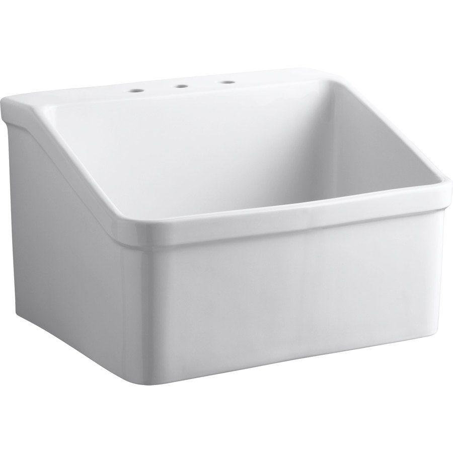 Kohler 22in x 28in 1basin white wall mount vitreous