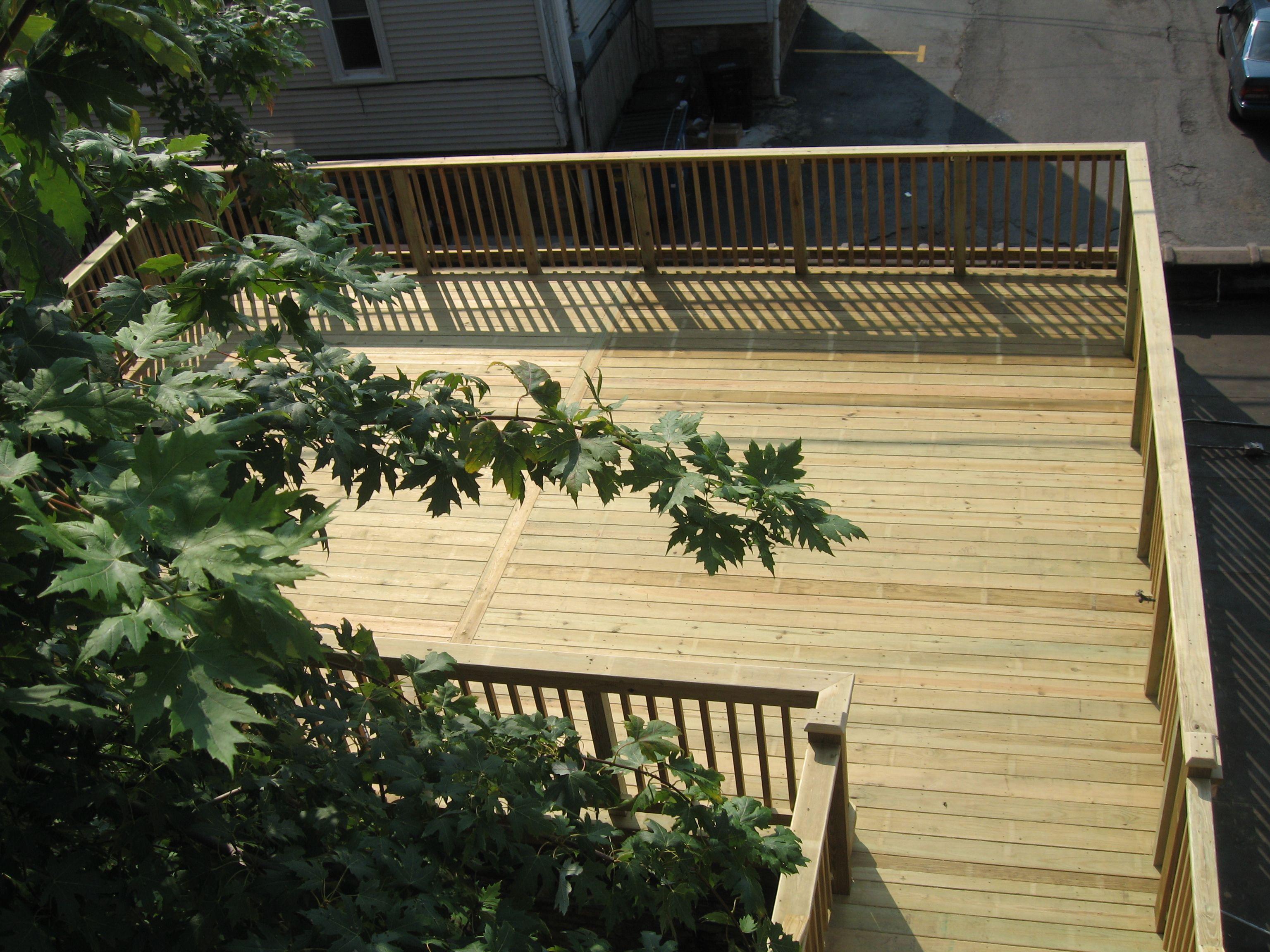 Katlia Construction Garage Roof Top Deck Built To City Of