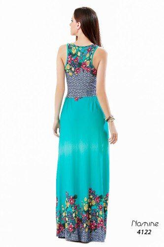 061ec32b54 Vestido Longo Estampado Florido