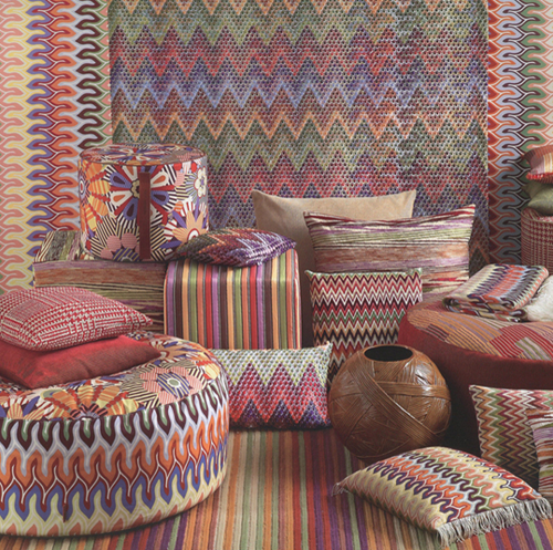 Missoni Home Rajhastan Chair: Missoni Home Fabrics Wannekes.com:categorie:Scholten