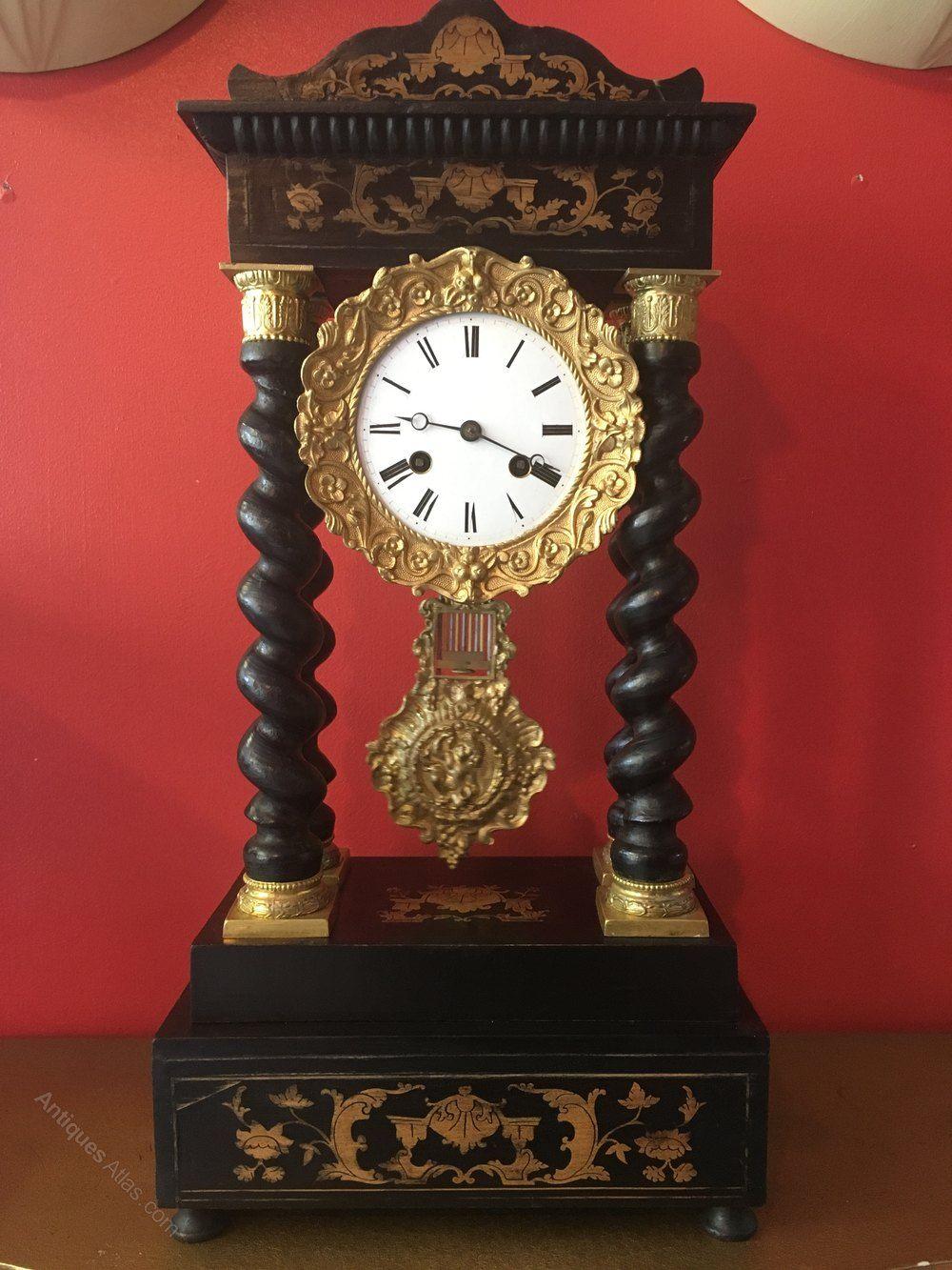 French Portico Clock C Detouche Clock Antique Clocks Wall