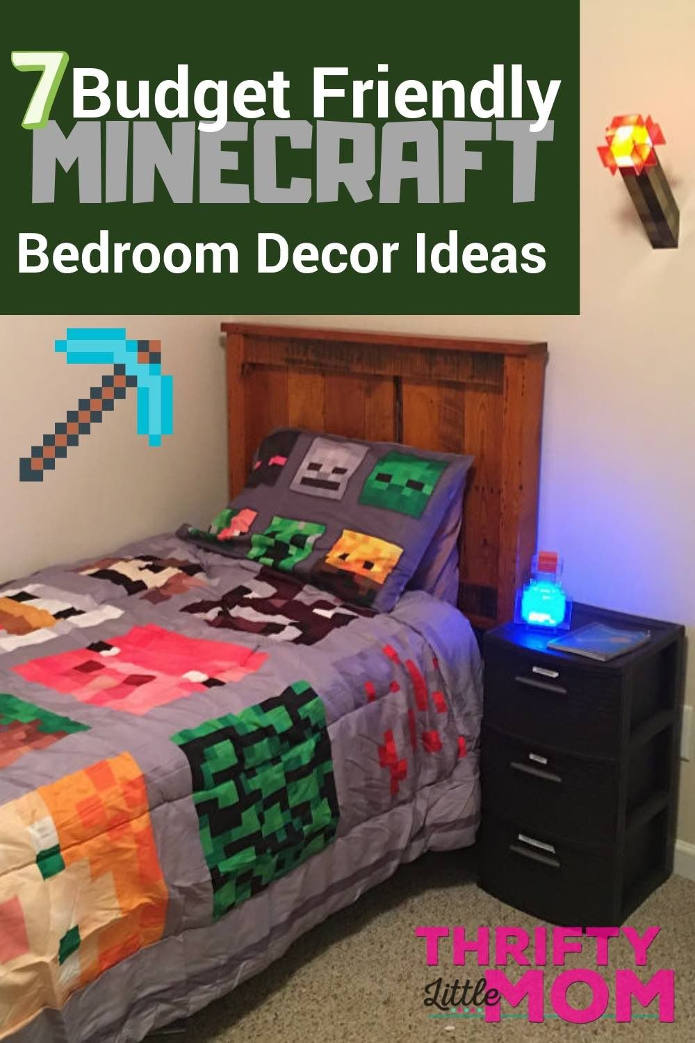 My Minecraft Bedroom Makeover For Regular Moms (With ...