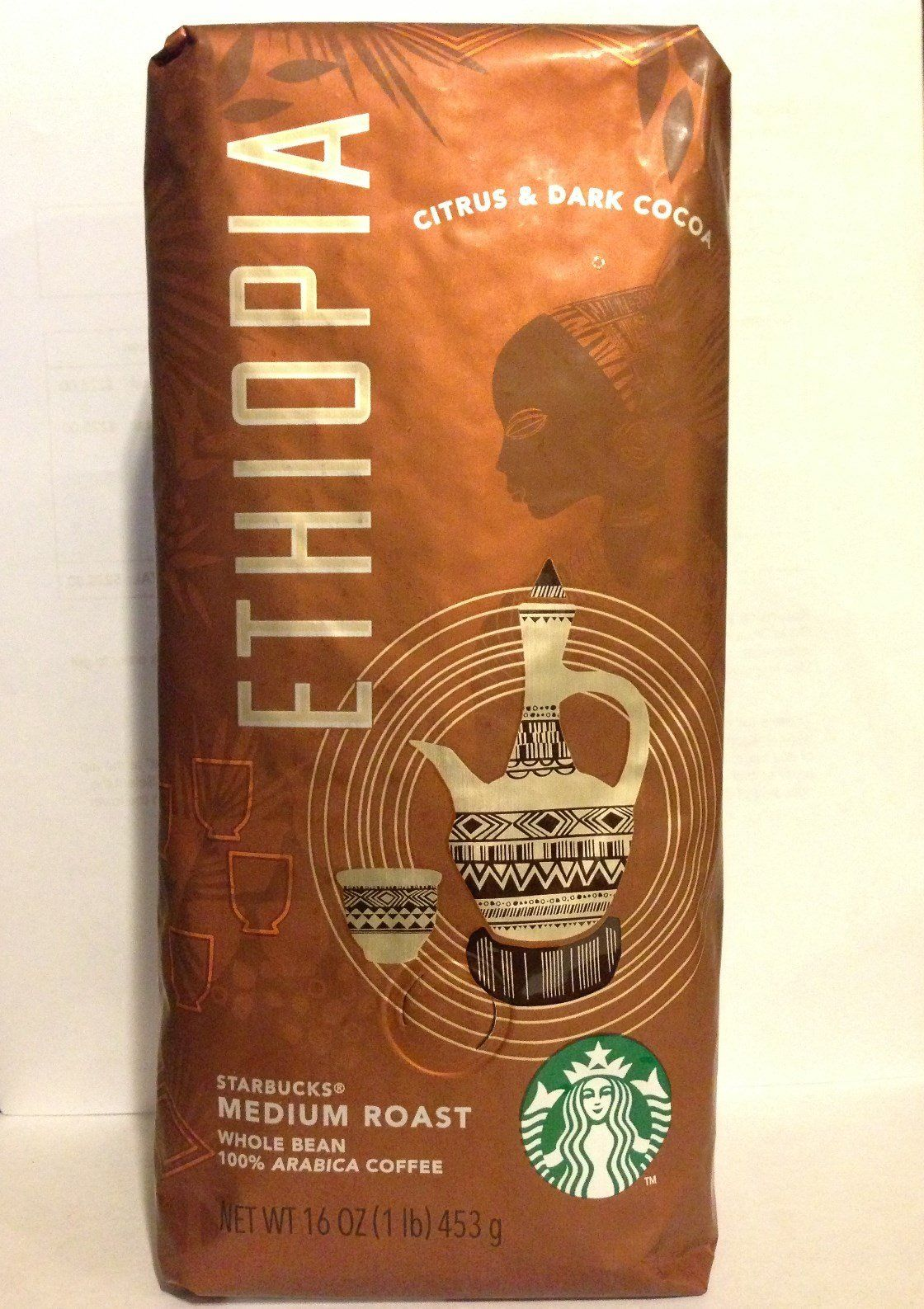 Starbucks Ethiopia 1lb Whole Bean Medium Roast Coffee