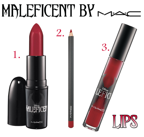 MAC Maleficent Lip Products IN LOVE with this red!! メイク