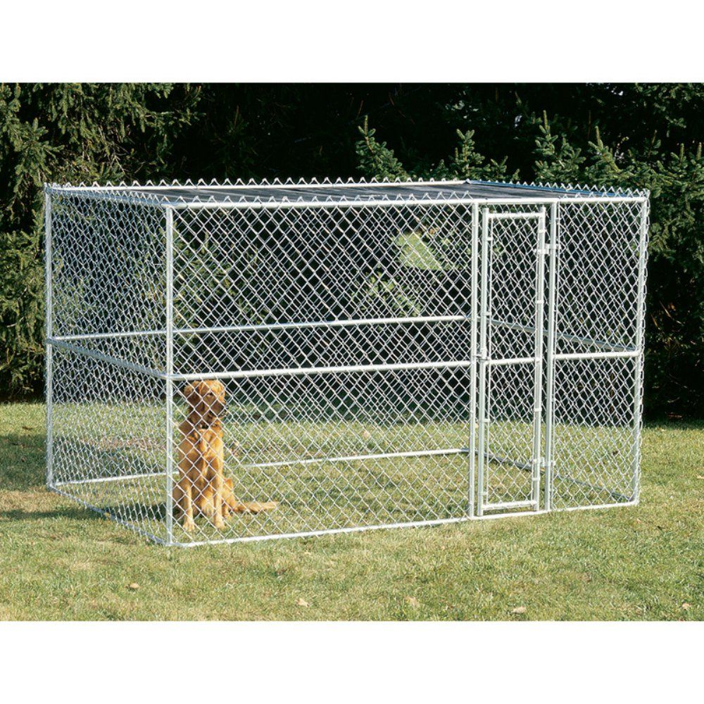 Midwest Homes For Pets K9 Steel Chain Link Portable Yard Kennel