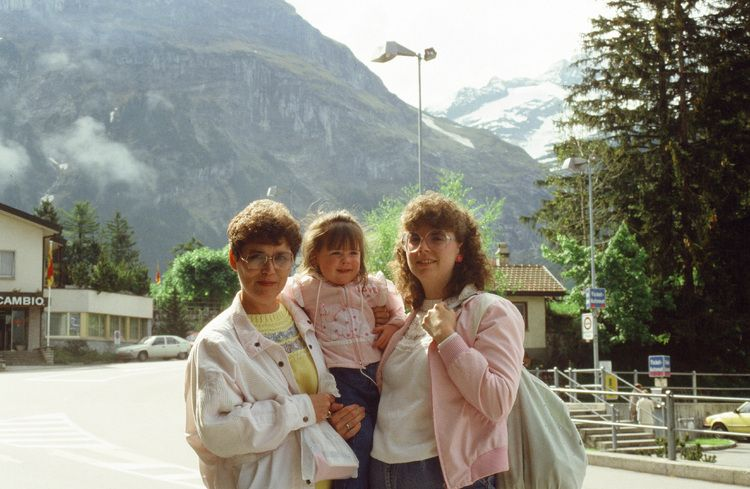 My 3 favorite women in the whole world! Mom, Sami and Ann in Austria, 1988