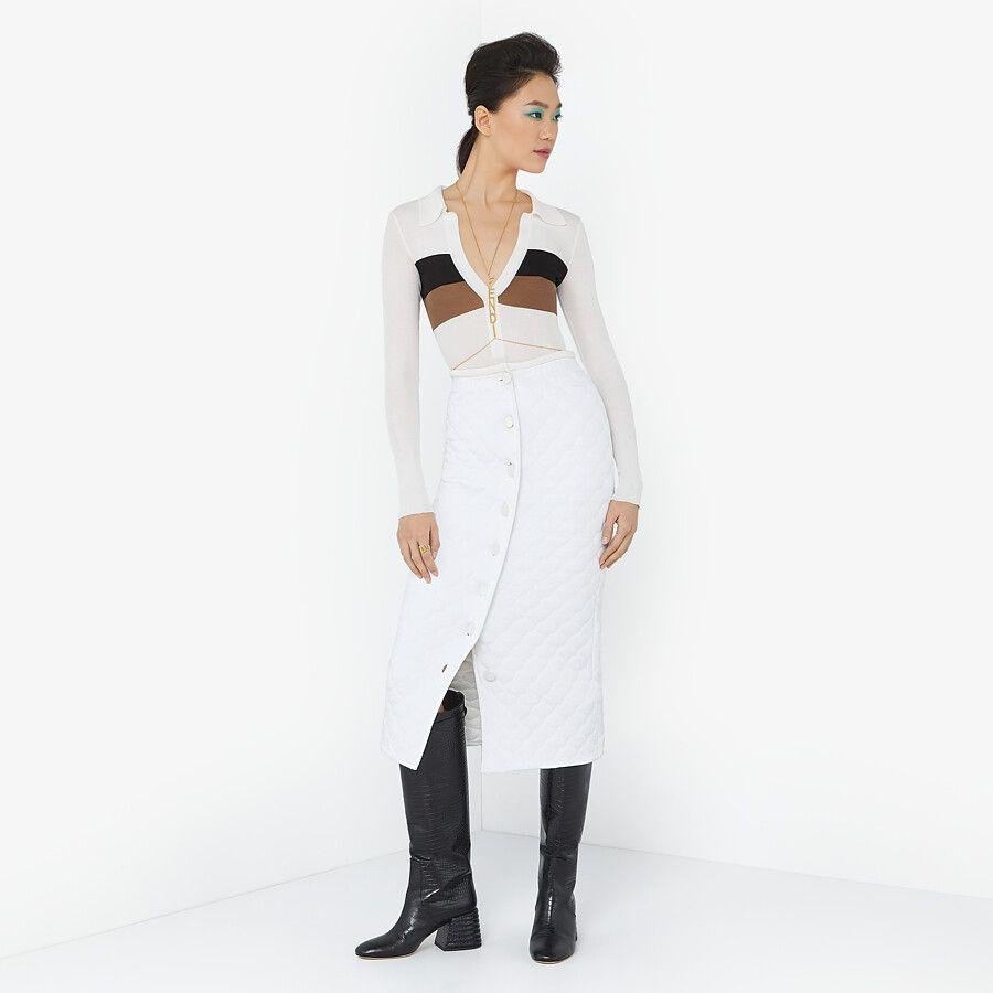 Falda De Viscosa Blanca Falda Fendi Fendi Online Store Faldas Fendi Confeccion [ 900 x 900 Pixel ]