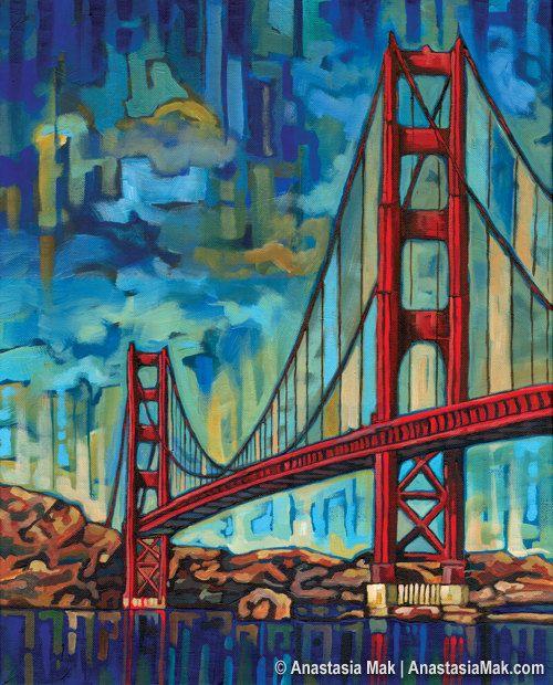 Golden Gate Bridge In San Francisco 5x7 Art Print By