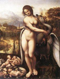 Leda e o Cisne, por Cesare da Sesto (1505–1510)