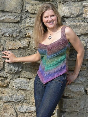 Summer Tank Top Askew By Cheryl Kemp Knitting Pattern Central