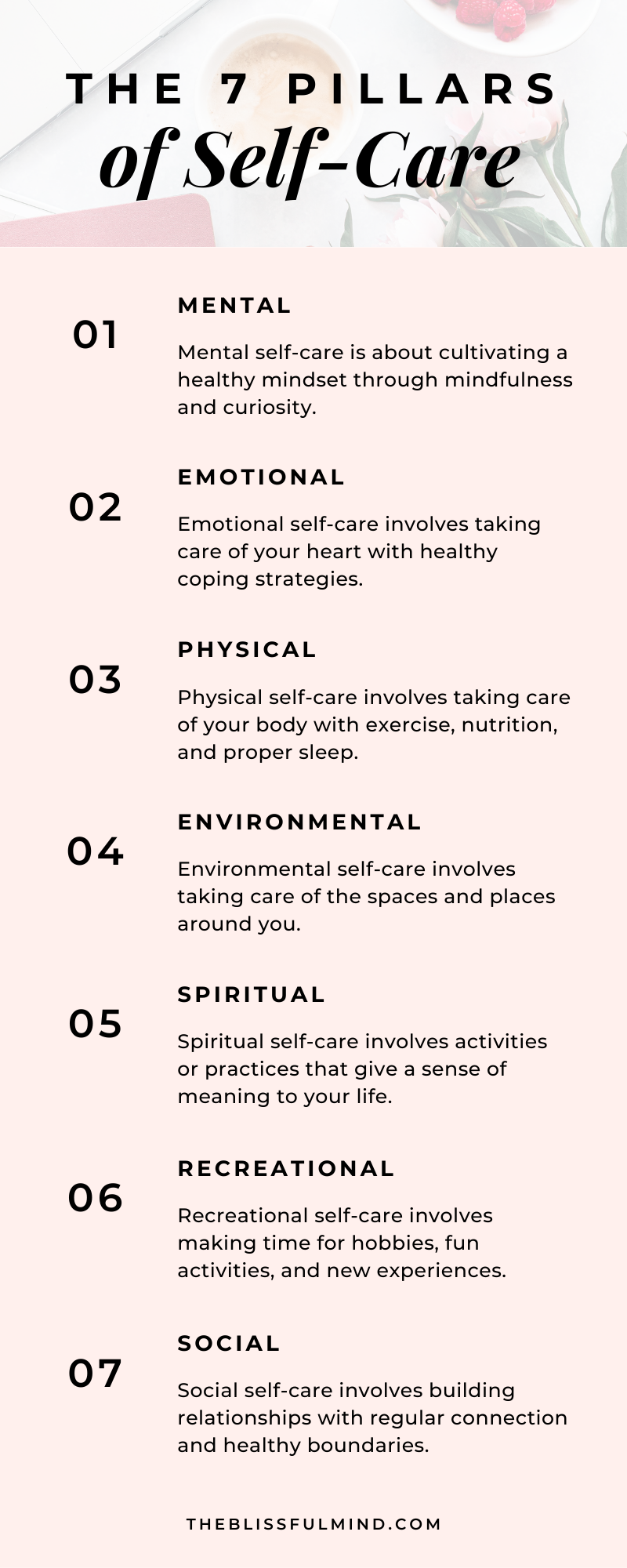 The 7 Pillars of Self-Care and How To Use Them