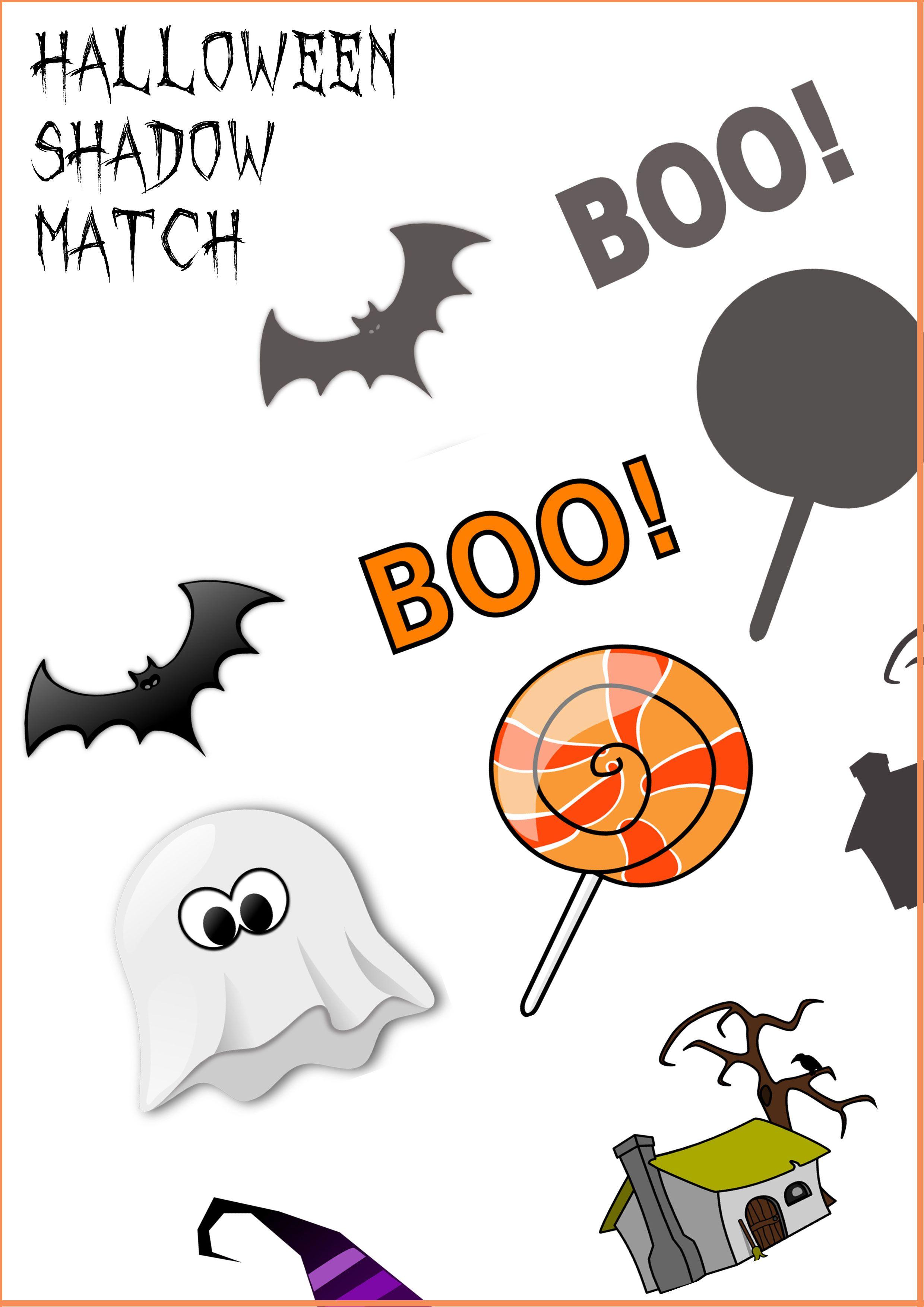 Halloween Shadow Match Printable