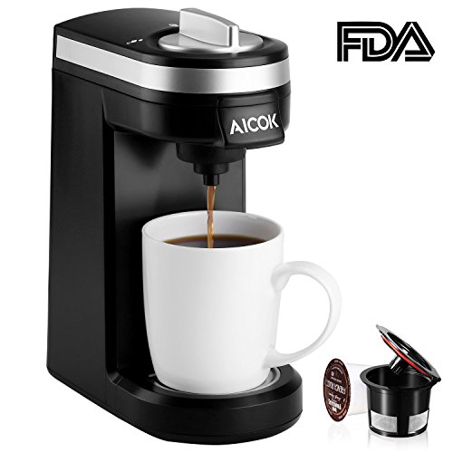 Aicok Single Serve Coffee Maker Single Cup Coffee Brewer With Removable Cover Review Best Buymorecoffee Com Single Serve Coffee Makers Single Cup Coffee Maker Coffee Maker Machine