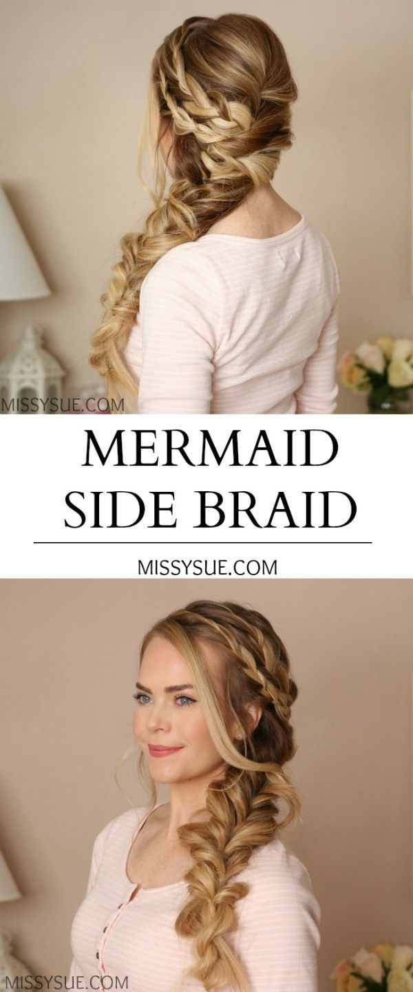 Mermaid side braid mollies country wedding pinterest mermaid