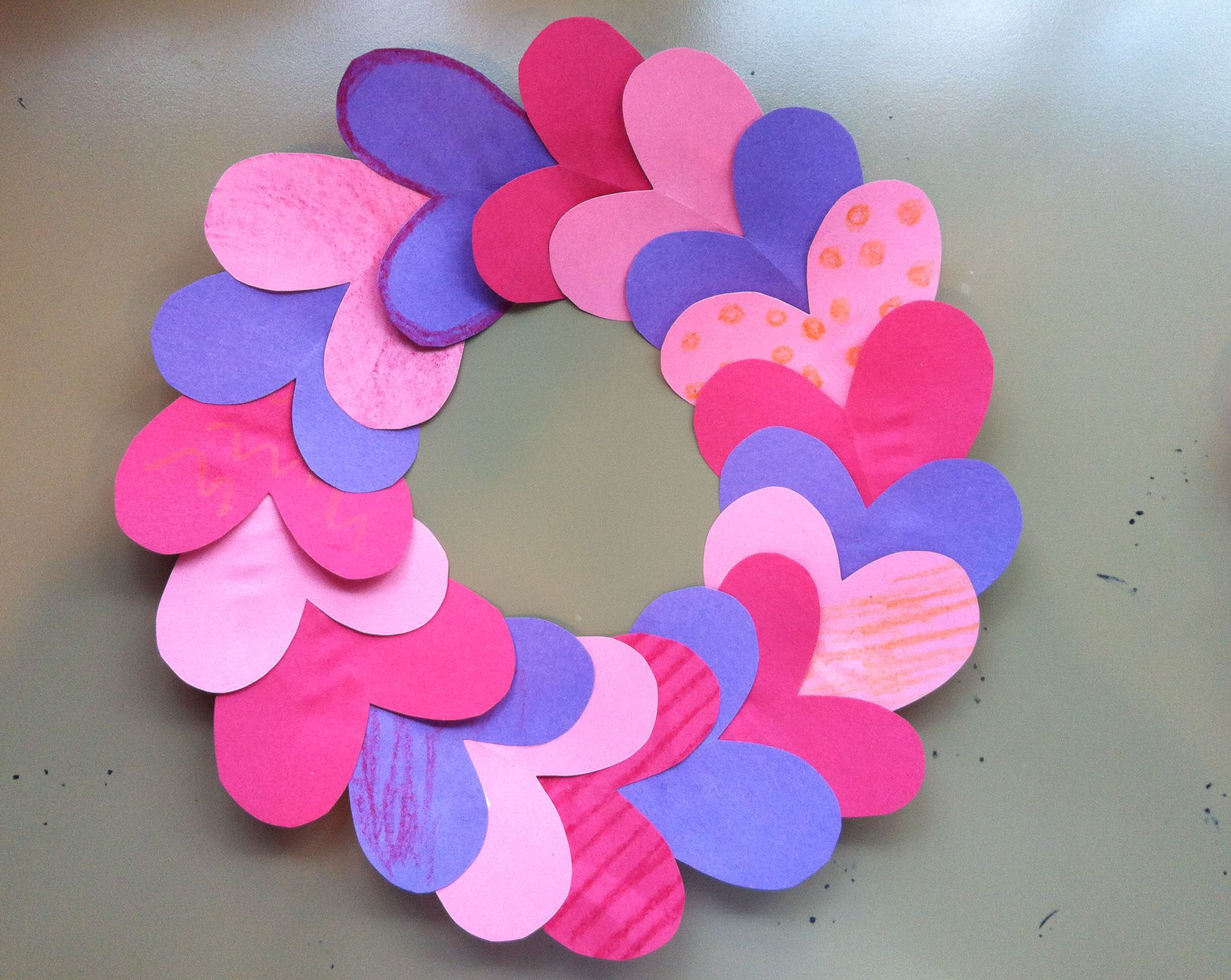 Quick and easy Valentine's Day craft: Cut the center out ...