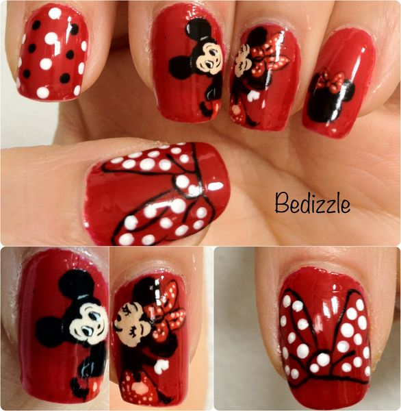 Minnie And Micky Mouse | Nails | Pinterest