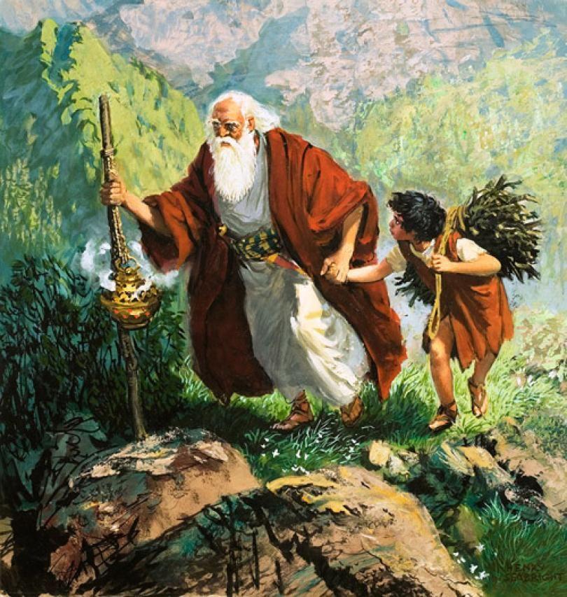 Abraham And Isaac Sacrifice Craft Jpg 810 853 Bible Art