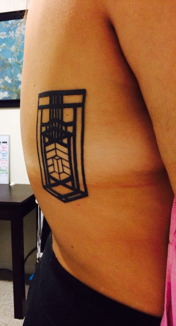 Geometric Tattoo Inspired by Frank Lloyd Wright