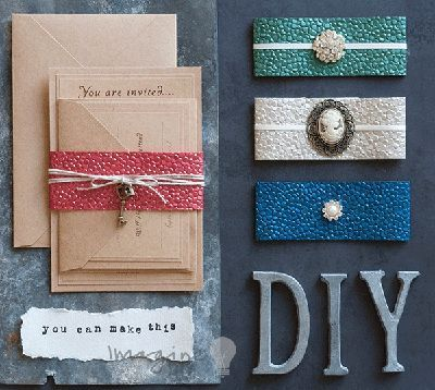 make wrap invitations DIY wedding invitation wraps Low cost wedding