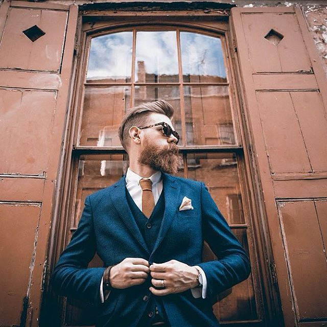 Nothing quite like a suit and a beard. • Photo of @ericbandholz courtesy of @hannah miles • #beard #suit #threepiecesuit #mensstyle #fashion #menswear #mensfashion #beardbrand #lifestyle #photography #style #beards