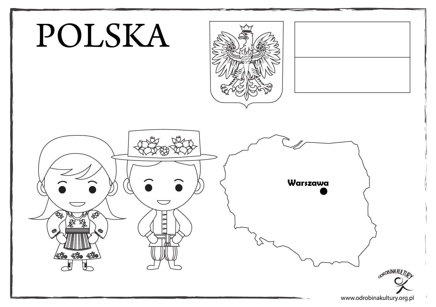 Polska Kolorowanka Teaching Materials Education Fun