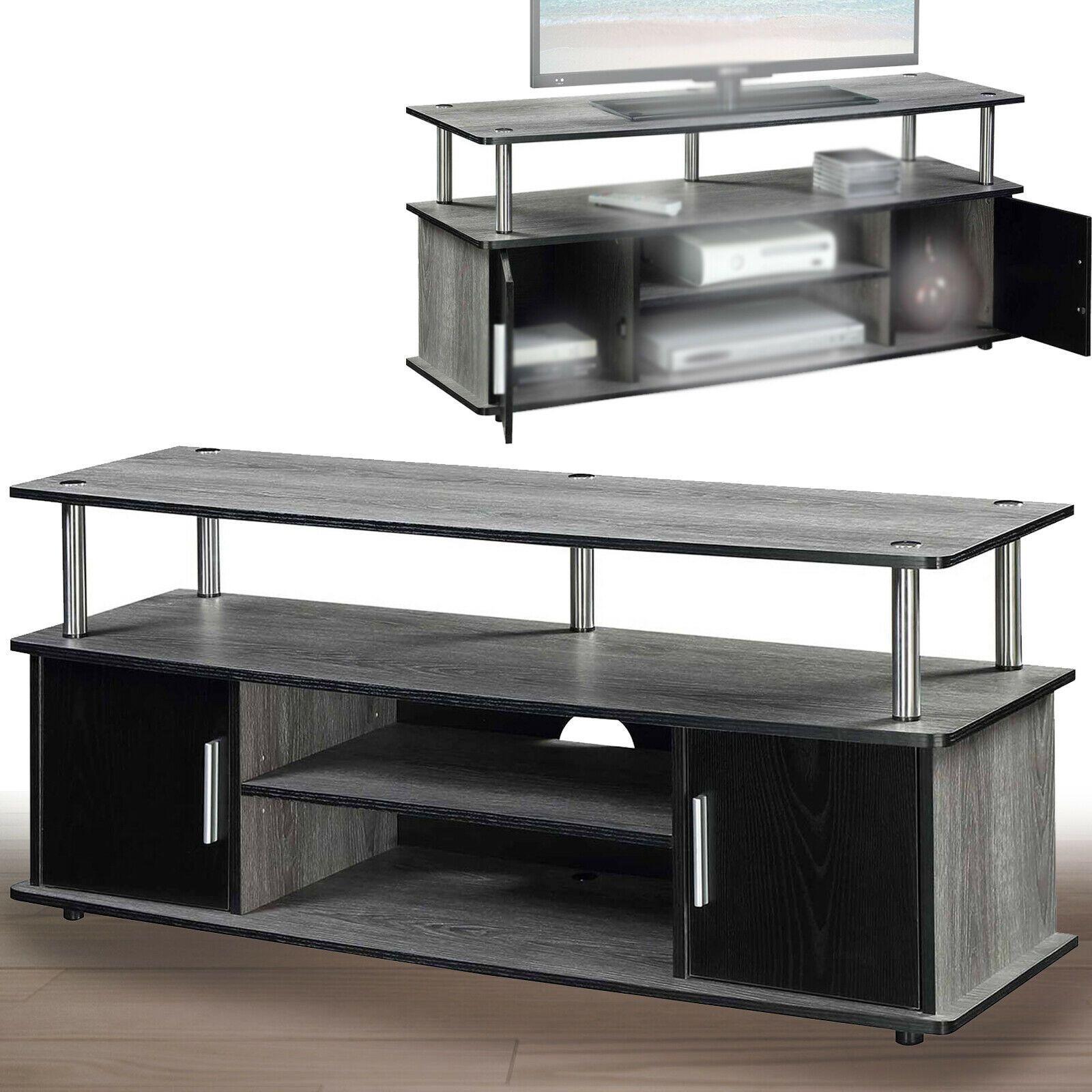 Mount Factory Modern Tabletop TV Stand Universal Flat Screen Base Replacement