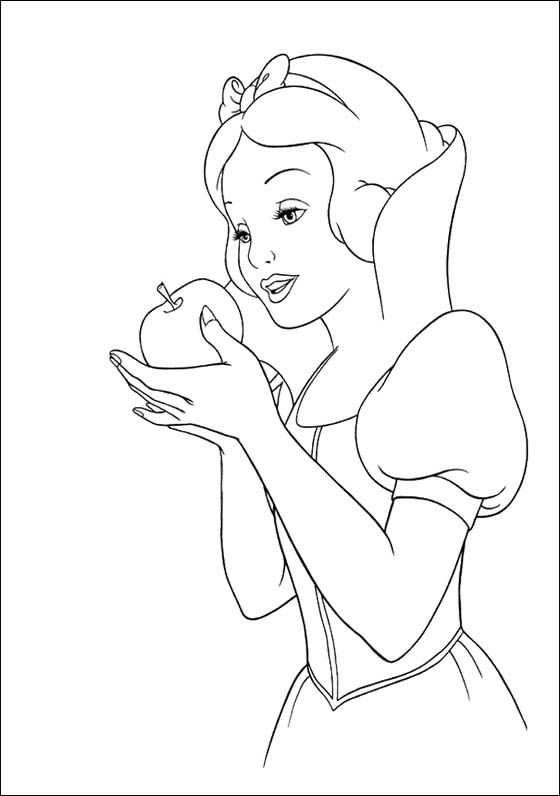 Snow White Apple Coloring Pages Snow White Coloring Pages