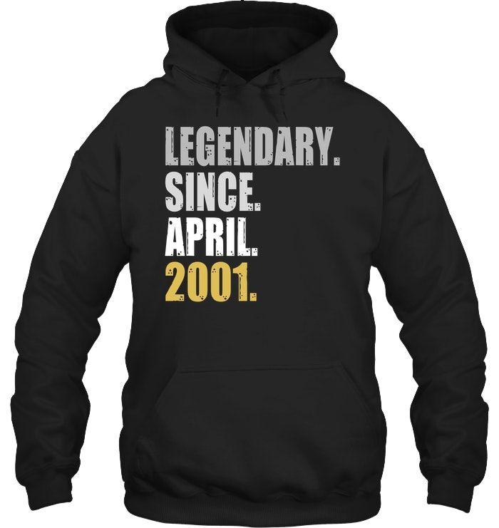 17th Birthday Gifts Legendary Since April 2001 T Shirt #17thbirthday