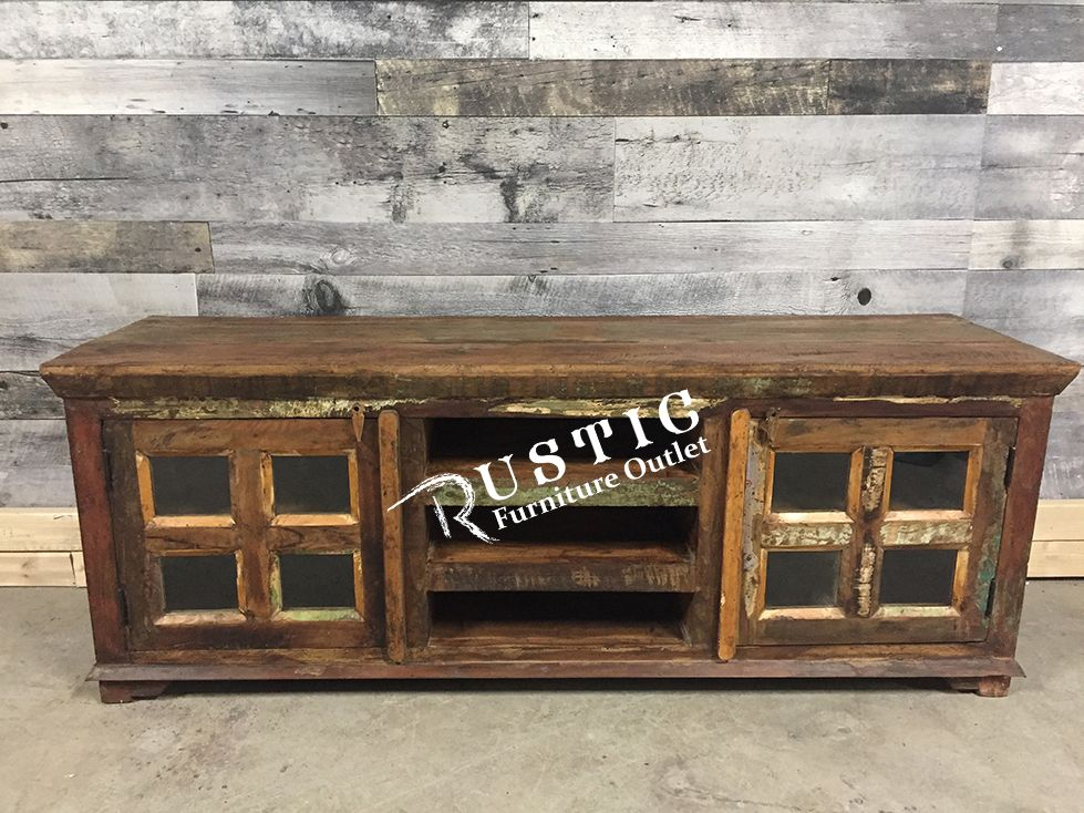 Jammu Recycled Wood Tv Stand Wood Tv Stands Tv Stands And Solid