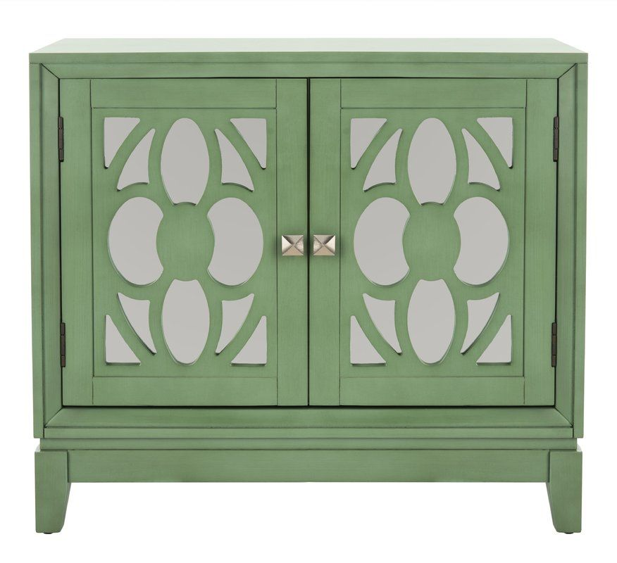 Glacaeu 2 Door Mirrored Accent Cabinet Accent Cabinet Mirrored Cabinet Doors Door Chest