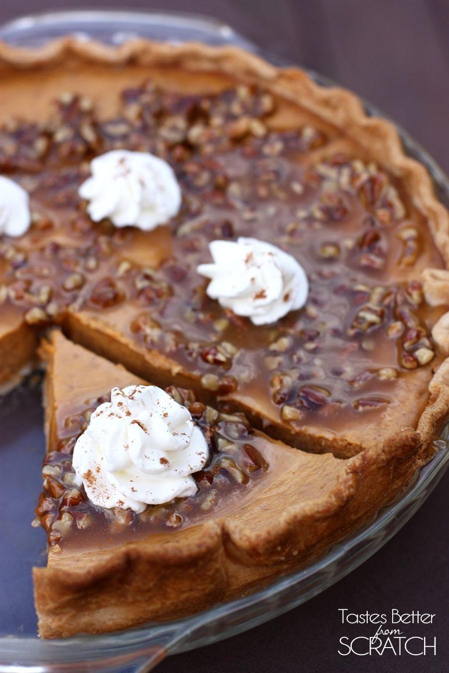Pumpkin Pie with Pecan-Caramel Topping Pumpkin Pie with Pecan-Caramel Topping new pics