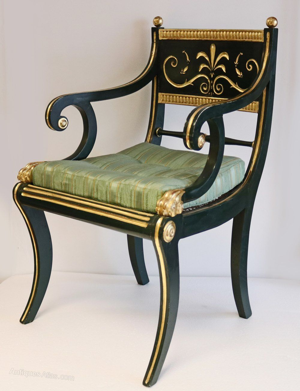 19th Century Green Armchair Signed By Cohen London In 2019 Lost