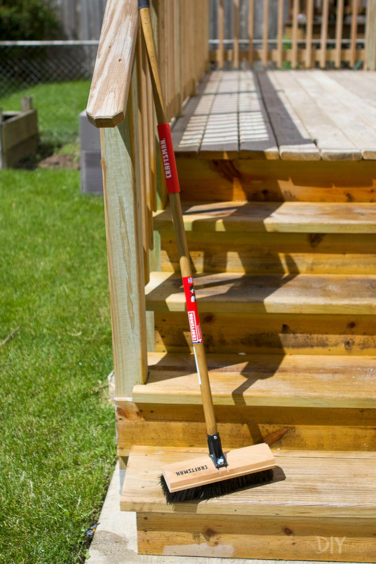 How To Stain Your Deck Quickly With A Paint Sprayer Staining Deck Outdoor Diy Projects Paint Sprayer