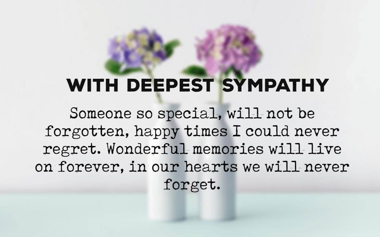 Condolences Messages For Your Sympathy Card Sympathy Messages