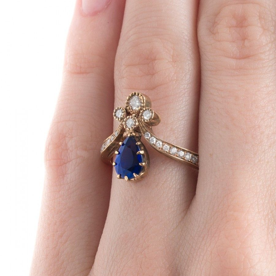 Dazzle Her with a Sapphire Tiara Ring | Liiitle Ring | Pinterest ...