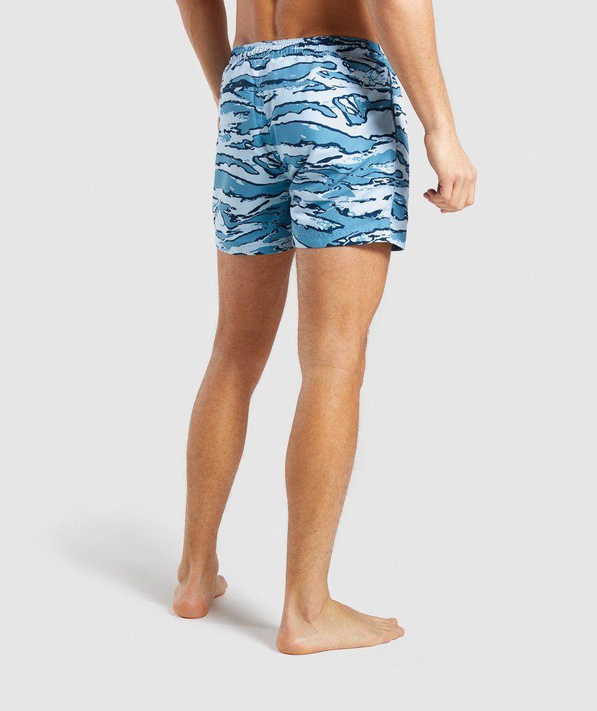 ac602a5861fa5 Gymshark Atlantic Swim Shorts - Blue Camo | sampling | Blue camo ...
