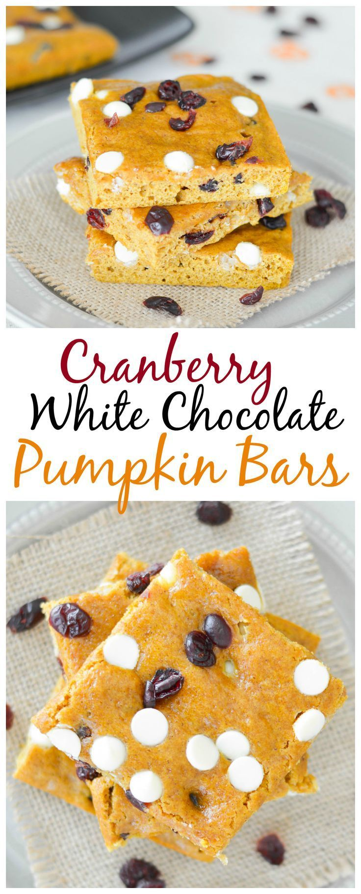 These cranberry white chocolate pumpkin bars are light cakey and these cranberry white chocolate pumpkin bars are light cakey and perfect for fall if aloadofball Gallery