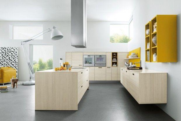 21 id es de cuisine pour votre loft cuisine pinterest chene blanchi cuisine chene et id e. Black Bedroom Furniture Sets. Home Design Ideas