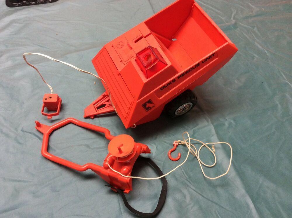 1970s Duke Super Action Dog Rescue Unit Trailer Rare Kenner Parts