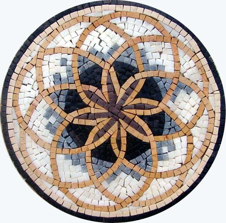 Flower Of Life Medallion Mosaic 24 Round