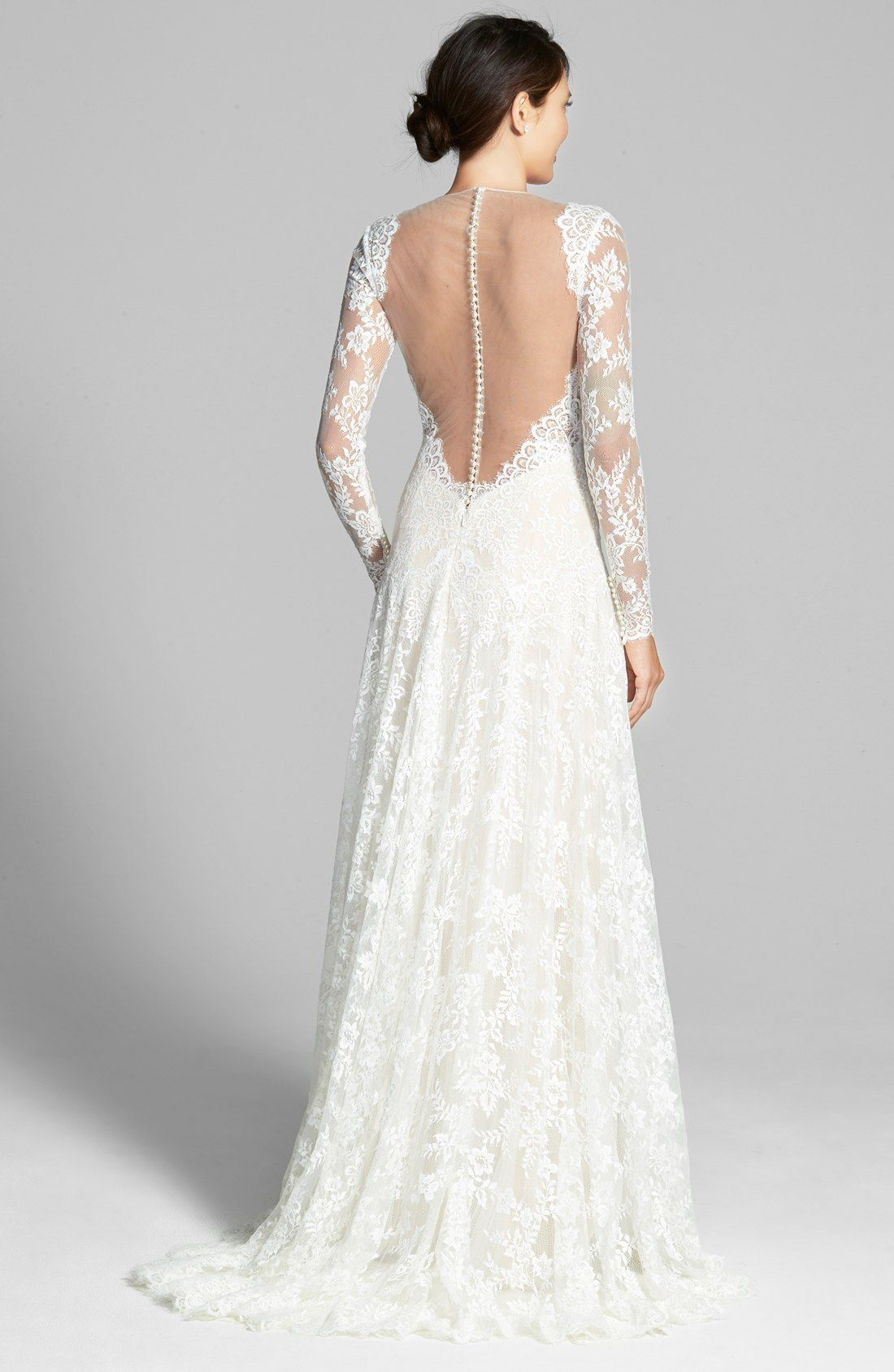 Nordstrom wedding dress  Free shipping and returns on Watters uArceliau Illusion Yoke ALine