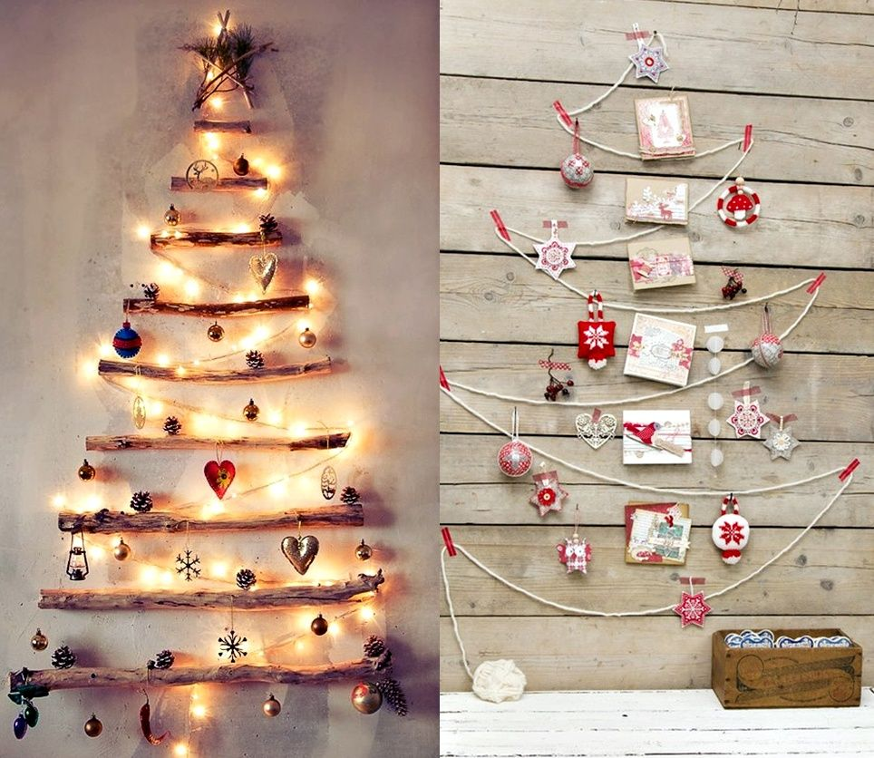 Wall Christmas Trees Design And Room Decoration Captivating Creative Christmas Decor