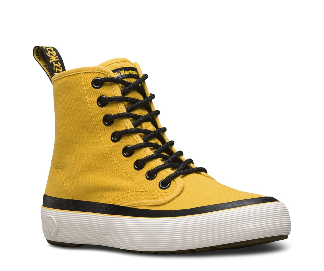 The ''90s-inspired Monet boot is made with a lightweight weave canvas and features a thick, chunky rubber sole. All the classic Doc's DNA is represented here, including grooved sides and a yellow heel loop - all constructed on our iconic and durable air-cushioned sole.