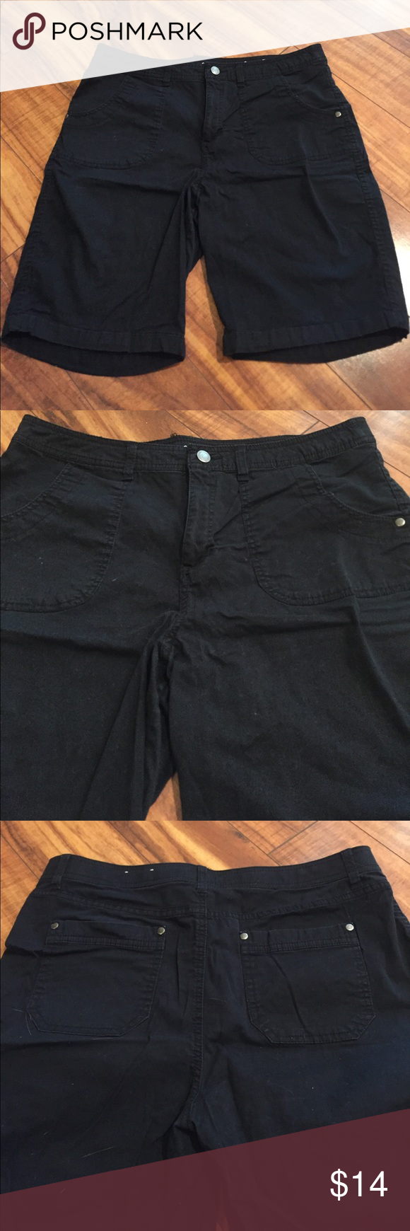 Croft u Barrow Black shorts size  Like new croft and barrow black