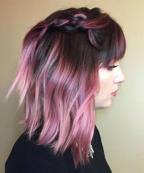 Beautiful Inspirational Deep Pink Hair Color Ideas Worth Checking Out | Messy Hairstyle