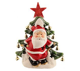 "Kringle Express Illuminated 9/"" Half Moon Christmas Character H203135"