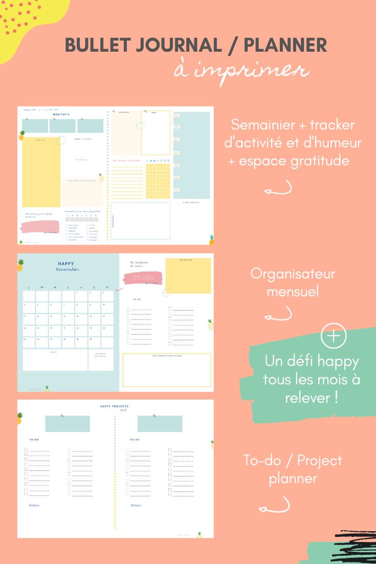 Happy Kit : Kit d'organisation et journal mensuel - à ...