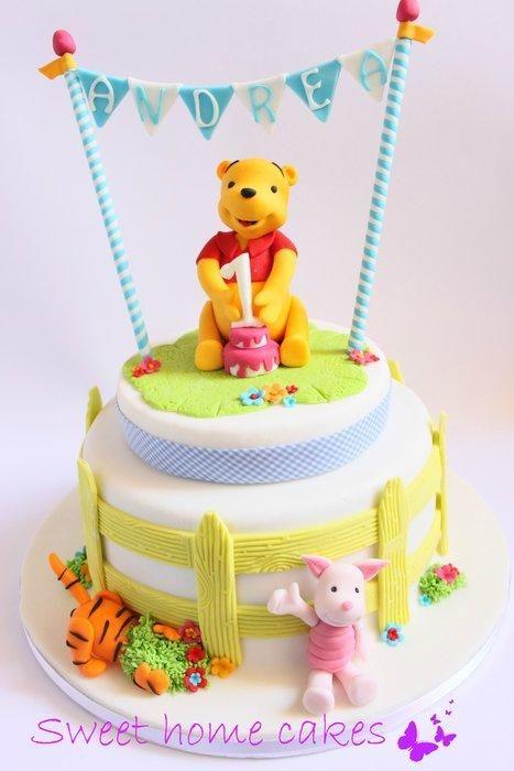 Winnie Pooh Cake Winnie The Pooh Cake Baby Birthday Cakes